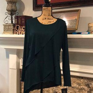 Asymmetrical Dk Green Tunic